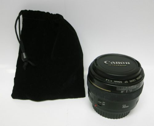 Canon EF MF AF 50mm F/1.4 1:1.4 USM Ultrasonic focus Telephoto Aspherical Lens